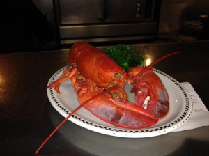 Louie the Lobster at the Lobster Pot in P'town.