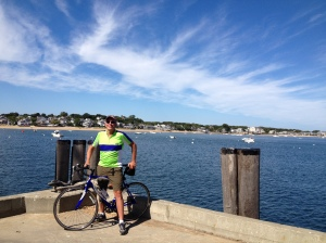 Michael near the Woods Hole ferry