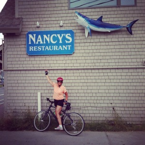 Nancy at what must be the best restaurant in Martha's Vineyard.