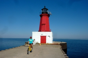 the yellow bike can take you anywhere in Menominee