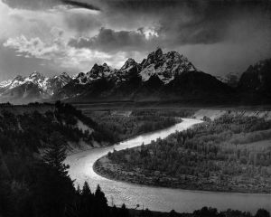 Ansel Adams. The Tetons and the Snake River