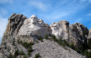 Washington, Jefferson, T. Roosevelt, and Lincoln