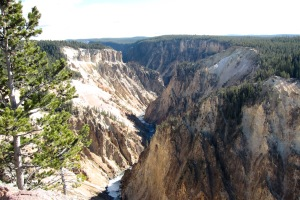The yellow stone of the Grand Canyon of Yellowstone