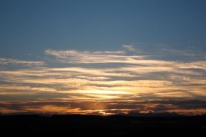 Sunset over the Calgary range