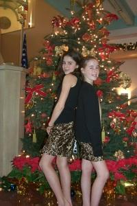 Liz and Meghan in their Fletcher Jones skirts.